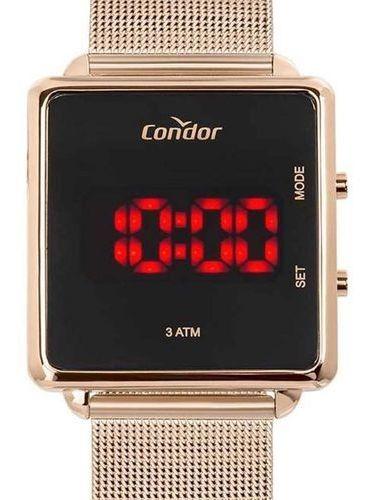 Relógio Condor Feminino Digital Led Rosê Cojhs31bab/4j
