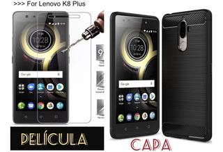 Capinha Capa Case Lenovo K8 Plus + Pelicula De Vidro.
