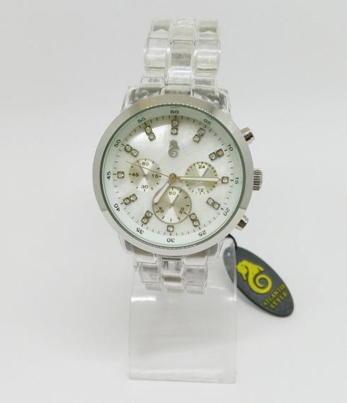 Relógio Atlantis Feminino Transparente