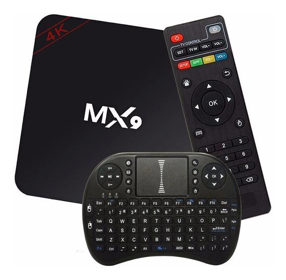 Kit Conversor Smart Tv Box 3gb/16gb + Teclado Led Android