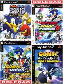Sonic Ps2 Coleção (4 Dvds Por 3) Patch Desbloqueados H R R U