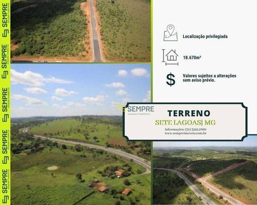 Imagem 1 de 15 de Terreno À Venda Em Sete Lagoas/mg - Te0024
