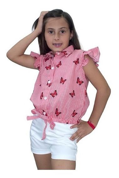Blusa Para Niñas Estampadas De Mgo Original