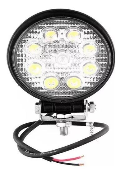 Faro Auxiliar Proyector 9 Led 27w Off Road 4x4 Redondo