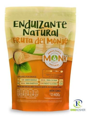 Imagen 1 de 1 de Combo Monk Fruit Bolsa 400 Gr+40 Sobres+ Miel+ Glass+ Envio