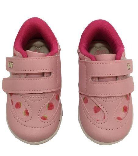 Tenis Infantil Kidy Colors Menina Brinde Boneca Morango 0008
