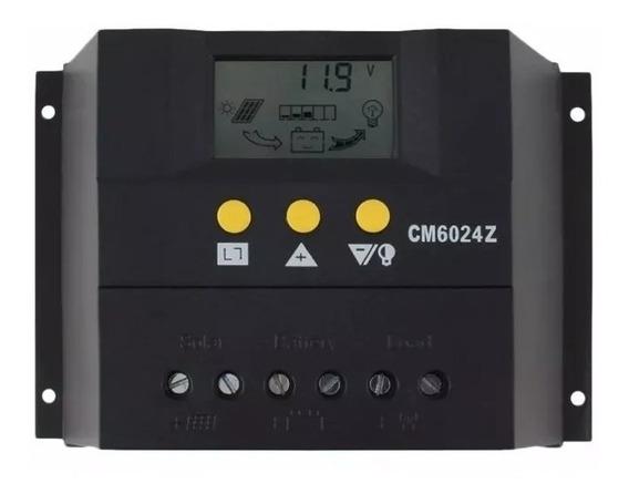 Controlador De Carga Para Painel Solar Pwm 60a 12e24v
