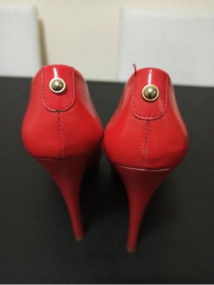 Zapatos Vía Uno Rojos Poco Uso Talle 37