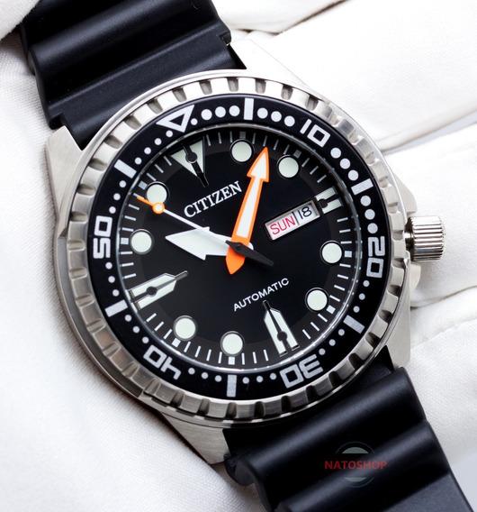 Relógio Citizen Automático Marine Sport Preto Nh8380-15e