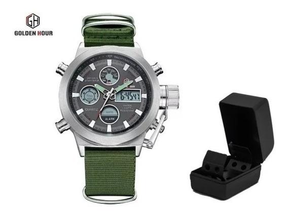 Relógio Militar Golden Hour - Pronta Entrega No Brasil