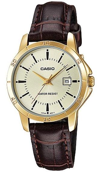 Relógio Casio Feminino Ltp-v004gl-9audf C/ Garantia E Nf