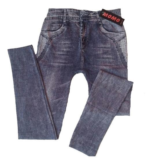 Leggins Tipo Jean Strech Dama Jeans Pantalon Tela Gruesa