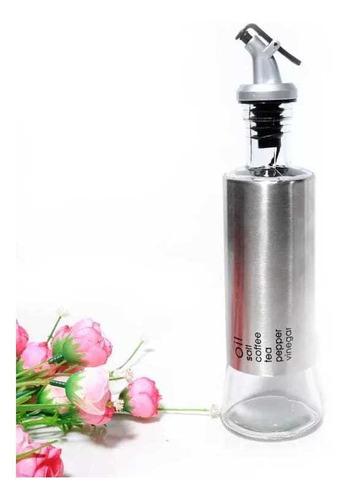 Garrafa Para Vinagre/azeite Em Vidro Revestida Em Aço Inox