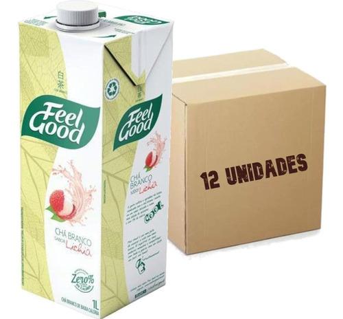 Imagem 1 de 3 de 12x Chá Branco Sabor Lichia Feel Good Caixa 1l