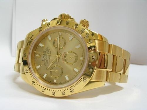 Relógio Automático , Daytona Gold Rolex Pr/água ,c/ Caixa