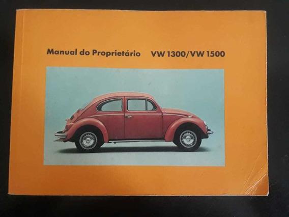 Manual Do Proprietário Original Fuska 1300/1500 1973