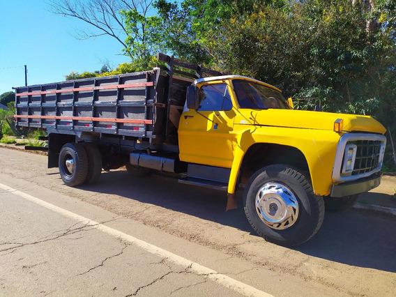 Caminhão Ford 7000 Toco Carroceria Reduzido...