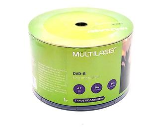 200 Dvd-r Multilaser 16x Logo ( Nao Grava Jogos)