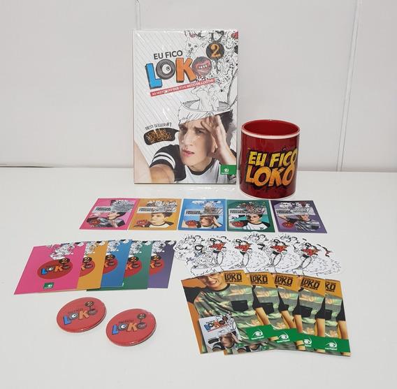 Kit Livro Eu Fico Loko 2 Christian + Cards + Button + Caneca