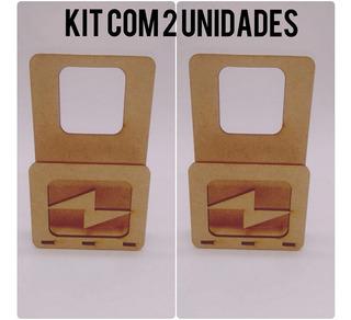 Kit Com 2 Suporte De Tomada Para Celular/carregador Em Mdf