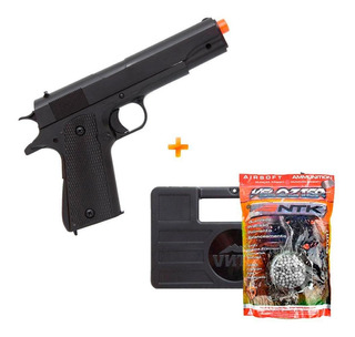 Pistola Airsoft M1911 M292 Spring Double Eagle + Bbs + Case