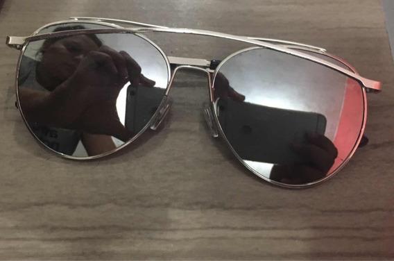 Óculos De Sol Espelhado Prata
