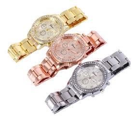 Reloj Geneva Mujer Dama Metalicos Mayoreo Desde 1 Pieza