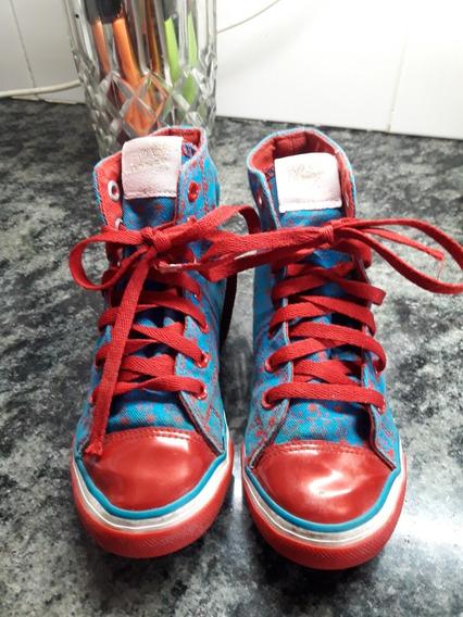 Zapatillas Estilo Botitas Disney Para Nena