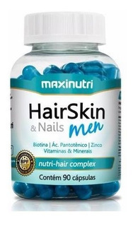 Hair Skin & Nails Men Maxinutri 90cps Queda De Cabelo Homens