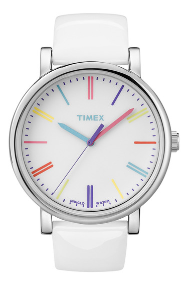 Reloj Timex Mujer Blanco T2n791
