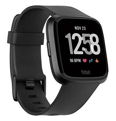 Fitbit Smartwatch Versa, Color Negro, Aluminio