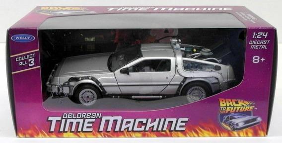 Auto Colección Auto Delorean Volver Al Futuro 1 1.24 Welly
