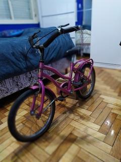 Bicicleta Rodado 16 Barbie Ideal Niños