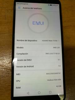 Celular Huawei Mate 10 Lite 64gb Negro Liberado