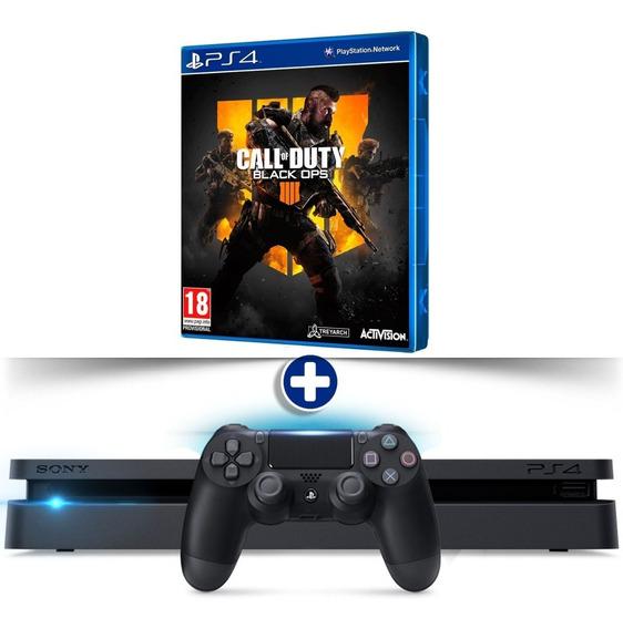 Ps4 Slim 500gb + Call Of Duty: Black Ops 4 Bivolt Play 4