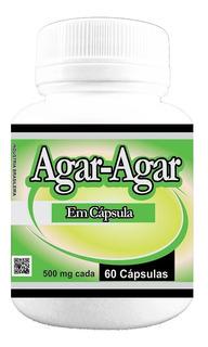 Agar-agar 500mg 60 Cápsulas - Poly Flora + Brinde