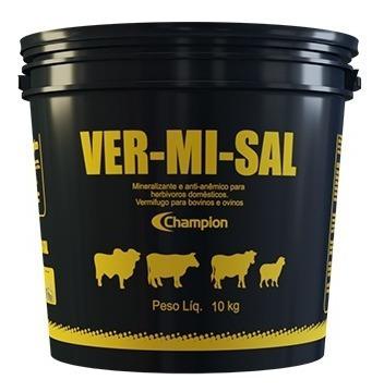Imagem 1 de 5 de Ver-mi-sal 10 Kg - Champion Saúde Animal