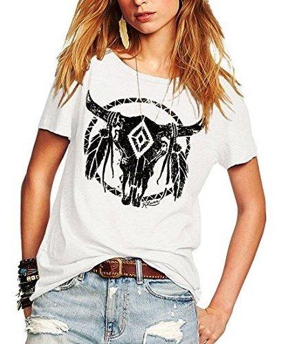 Weigou Summr Camiseta De Manga Corta Para Mujer Diseño Con