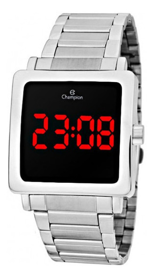 Relógio Champion Digital Prata Ch40197t - Nfe/original