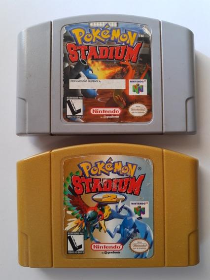 Kit Pokemon Station + Pokémon Stadium 2 Originais Gradiente!