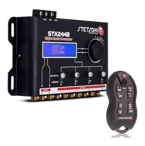 Crossover Processador Stetsom 4 Canais Stx 2448 + Controle