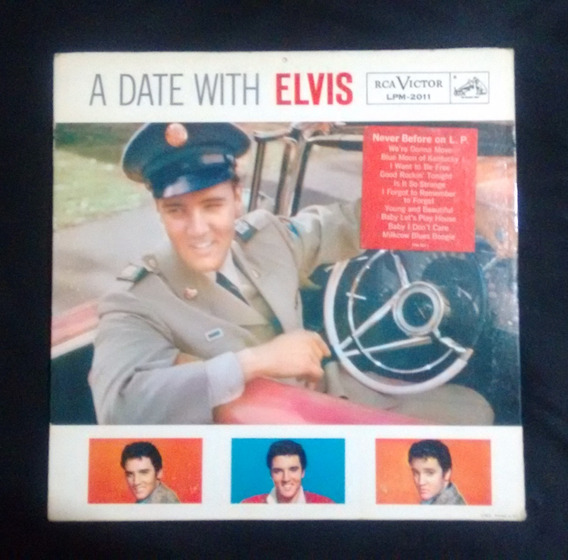 Elvis Presley A Date With Elvis Lpm2011 1° Edição 1959 1s/1s