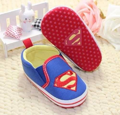 Sapatinho Superman Para Bebê Antiderrapante Pronta Entrega!