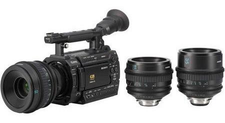 Filmadora Sony Pmw-f3k Xdcam Cmos Exmor Super 35mm Com Lentes Cinealta 35mm, 50mm E 85mm Sony