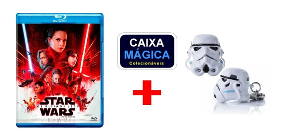 Blu-ray Star Wars Os Últimos Jedi + Chaveiro Iron Studios