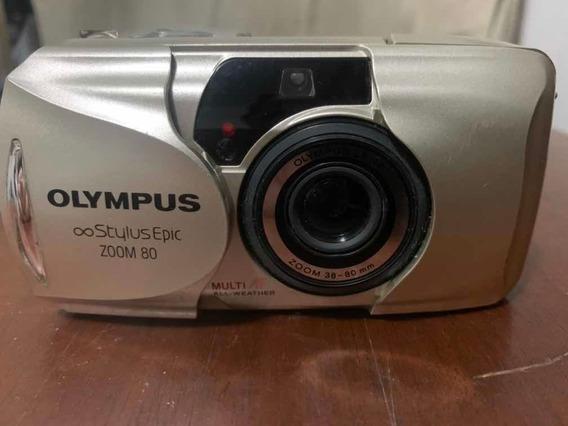 Camera Olympus Stylus Epic Zoom 80 Qd Cg Date 35mm