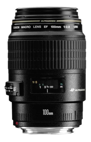 Lente Canon 100mm Macro Ef Usm F/2.8 12x Sem Juros