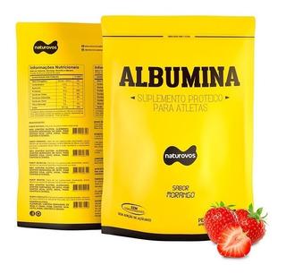 100% Albumina Pura 500g Refil - Suplemento Naturovos - Varios Sabores