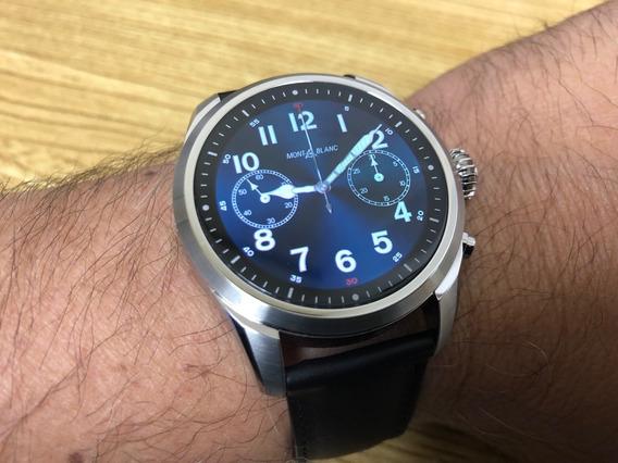 Reloj Montblanc Summit 2 Acero Y Piel Smartwarch
