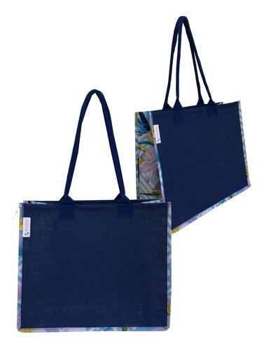 160 Bolsas Praia Ecobag Juta Rafia Azul